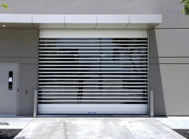Full Vision Roll-Up Door with Modern Aesthetics